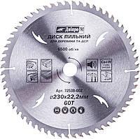 Пильный диск Dnipro-M, 230х22.2/20 мм, 60Т (72538002)