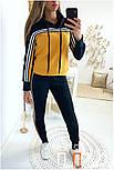 Женский стильный спортивный костюм с ламапасами-полосками (в расцветках), фото 2