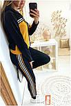 Женский стильный спортивный костюм с ламапасами-полосками (в расцветках), фото 6