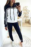 Женский стильный спортивный костюм с ламапасами-полосками (в расцветках), фото 7
