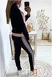 Женский стильный спортивный костюм с ламапасами-полосками (в расцветках), фото 8