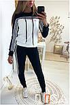 Женский стильный спортивный костюм с ламапасами-полосками (в расцветках), фото 9