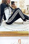 Женский стильный спортивный костюм с ламапасами-полосками (в расцветках), фото 10