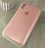 Оригинальный силиконовый чехол для Apple iPhone Xr - светло розовый - 12 color