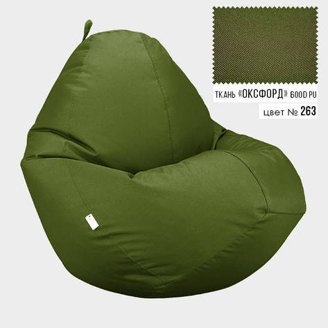 Кресло мешок Овал Оксфорд Стронг 100*140 см Цвет Хаки, фото 2