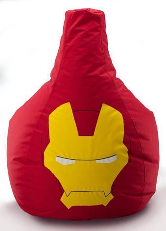 Кресло мешок груша Железный Человек 90*130 см, фото 2