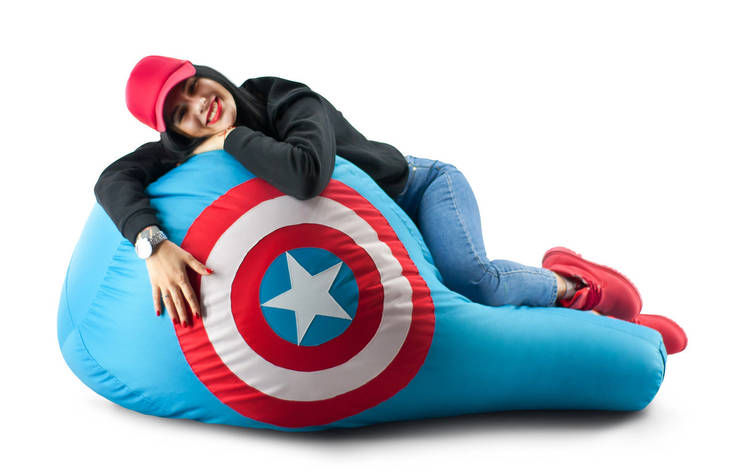 Кресло мешок груша Капитан Америка 90*130 см, фото 2