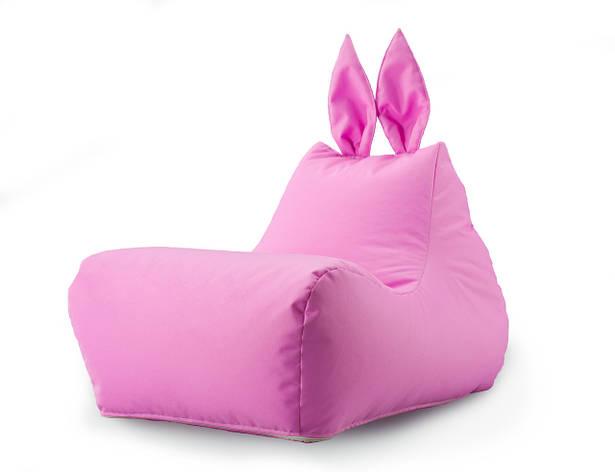 Кресло мешок Зайка цвет Розовый, фото 2