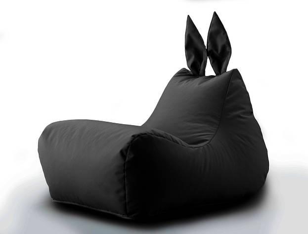 Кресло мешок Зайка цвет Черный, фото 2