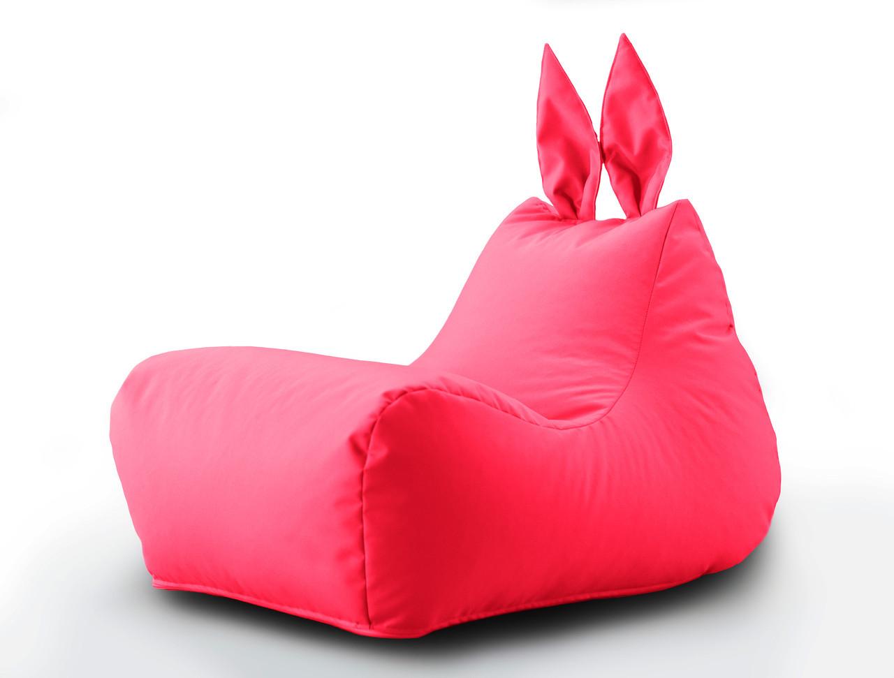 Крісло мішок Зайчик колір Малиновий