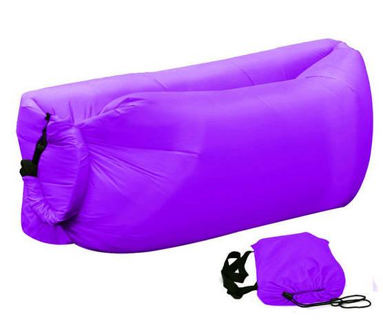 Надувной шезлонг Ламзак, биван, матрас Цвет Фиолетовый, фото 2