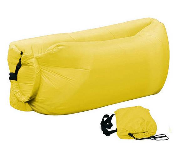 Надувной шезлонг Ламзак, биван, матрас Цвет Желтый, фото 2