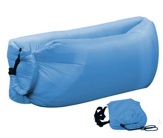 Надувной шезлонг Ламзак, биван, матрас Цвет Голубой, фото 2