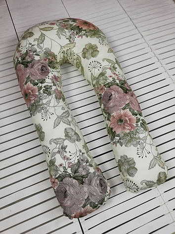 """Подушка для беременных, подушка обнимашка Подкова """"Королевский сад"""", фото 2"""
