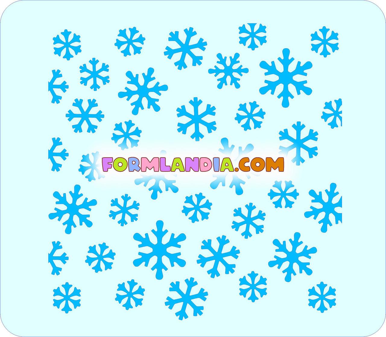 Трафарет для пряников Снежинки №5
