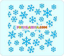 Трафарет для пряників Сніжинки №5