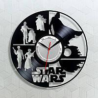 Star Wars часы Звёздные войны часы Часы виниловые Декор в интерьер Римской циферблат Винил на стену 300 мм