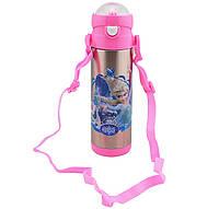 Детский Термос с Трубочкой Поилкой 500 ml Для девочек и мальчиков (4982649)