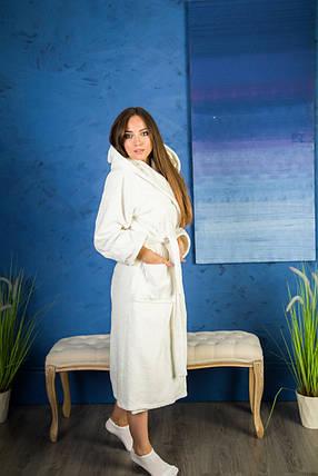 Халат махровый женский с капюшоном, фото 2