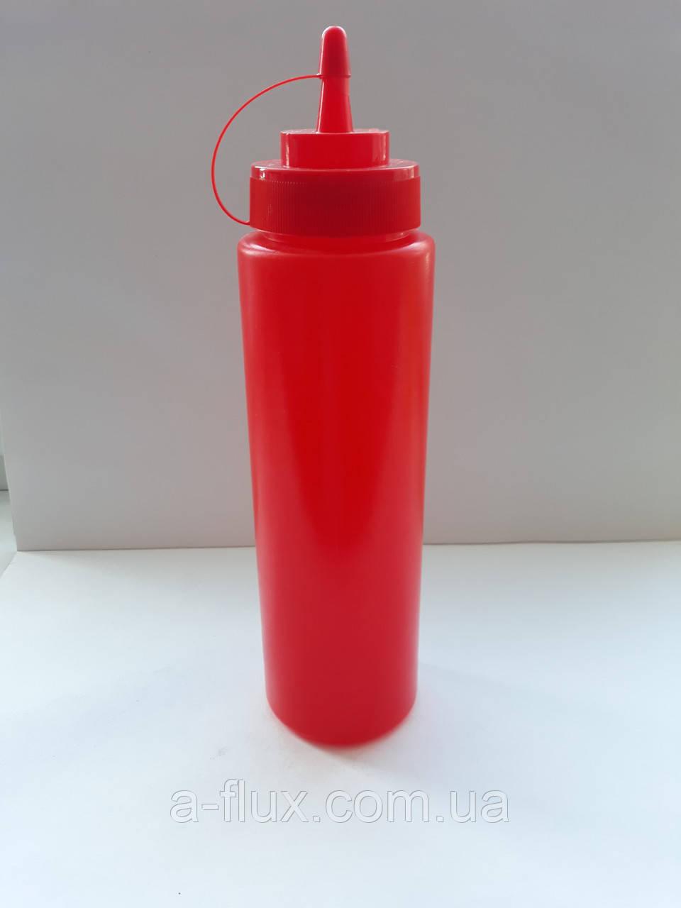 Бутылка для 700мл соусов и сиропов КРАСНАЯ  7080