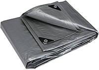 Тент водонепроницаемый серый усиленный 150 г/м², размер: 6х8 м