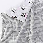 Плед и подушка с пандами в розовых чашках серого цвета, фото 4