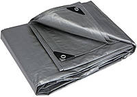 Тент водонепроницаемый серый усиленный 150 г/м², размер: 4х5 м