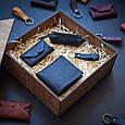"""Подарунковий набір шкіряних аксесуарів """"Medina"""": портмоне, ключниця, візитниця і брелок, фото 4"""