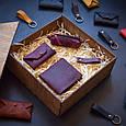 """Подарочный набор кожаных аксессуаров """"Medina"""": портмоне, ключница, визитница и брелок, фото 5"""