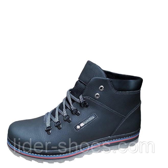 Мужские зимние ботинки в спортивной черные
