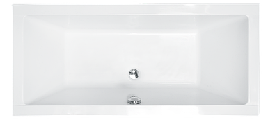 Ванна Besco QUADRO 170x75 с панелью и ножками