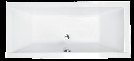 Ванна акрилова Besco QUADRO 180x80 з панелькою та ніжками, фото 2