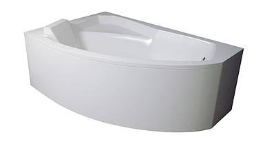 Ванна акрилова BESCO RIMA 130x85 ліва з панелькою та ніжками
