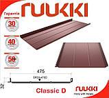 Ruukki Classic - D 0,5 мм Pural Matt BT black RR 33 Premium 50  - фальцевая кровля., фото 8