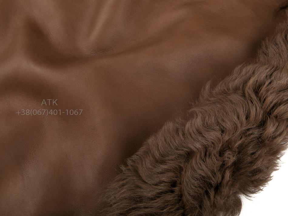 Дубленочный мех Тиградо коричневый