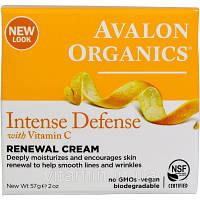 Крем для лица, Avalon Organics, витамин С, (57 г)