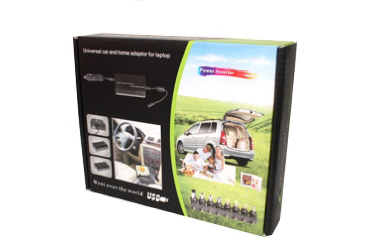 Зарядка автомобильная для ноутбука 120W 12V+220V в коробке