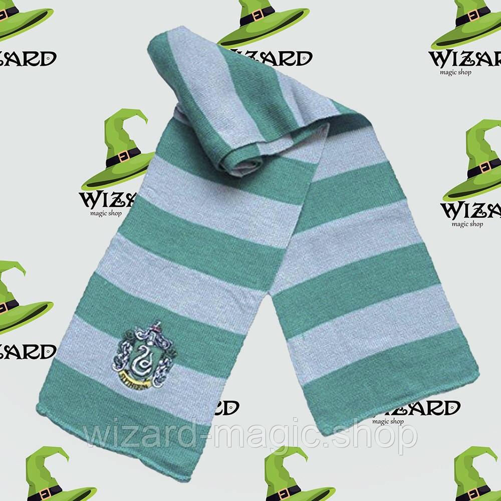 Шарф Гаррі Поттер Слизерин зелений з сірим