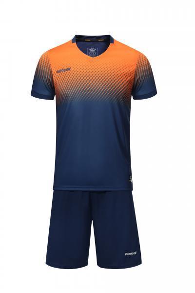 Футбольная форма Europaw 024 т.сине-оранжевая
