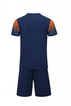 Футбольная форма Europaw 024 т.сине-оранжевая, фото 2