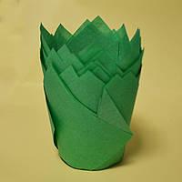 Капсула для кексів (тюльпан м'ятно-зелений) (10 шт.)