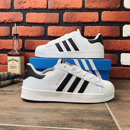 Кроссовки мужские в стиле Adidas Superstar (белые, 41-44, dr-066), фото 2