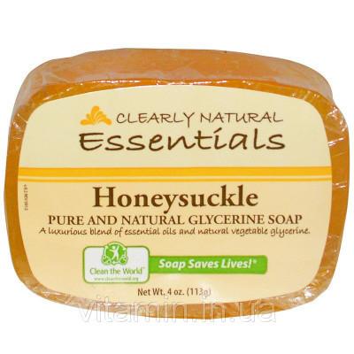 Мыло глицериновое жимолость, Glycerine Soap, Clearly Natural, 113 гр.