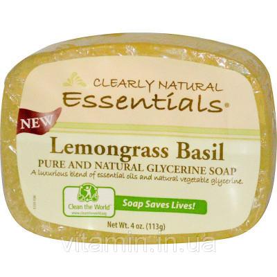Мыло глицериновое (лимонник), Glycerine Soap, Clearly Natural, 113 гр.