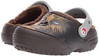 Сабо Crocs детские коричневые US C6 EU 22 23 Star Wars Чубака теплые с мехом для мальчиков Крокс оригинал