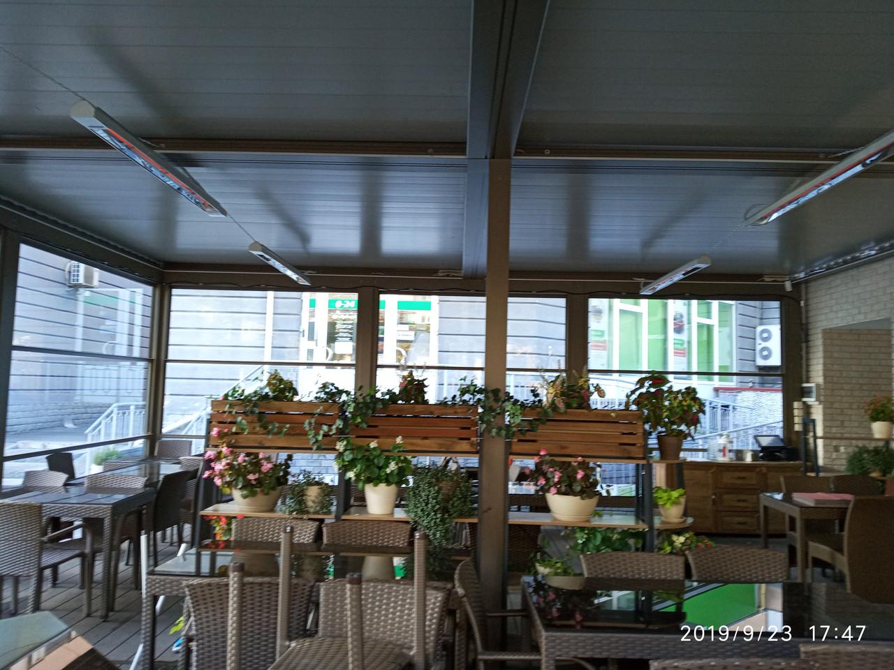 Отопление летних площадок пабов, кафе, ресторанов