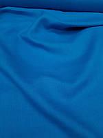 Льняная костюмная ткань сине-василькового цвета, фото 1