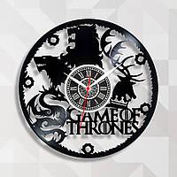 Игра Престолов часы Game of Thrones Виниловая пластинка Настенные часы Часи Гра Престолів Часы для подростков