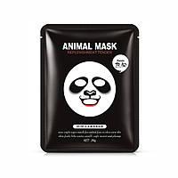 Маска-серветка для обличчя панда пом'якшувальна ROREC Animal Panda Mask