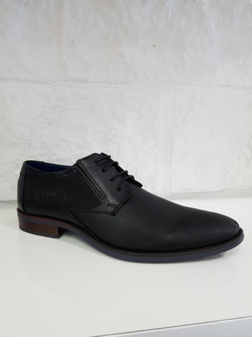 Туфлі чоловічі BUGATTI арт. 1000 чорні, шкіряні